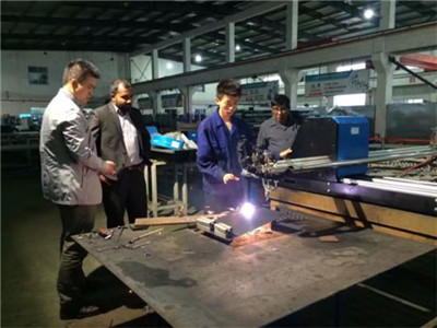 Fiber laser cut metal sheet machine instead of plasma machine