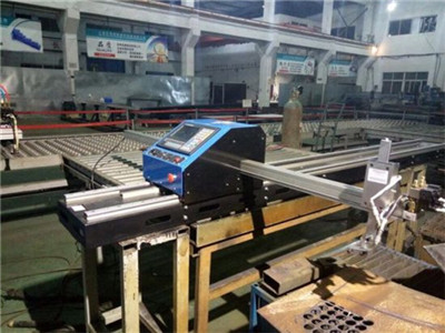 China Hot Sale CNC Round Stainless Steel Pipe Plasma Cutting Machine For Fitness Equipment