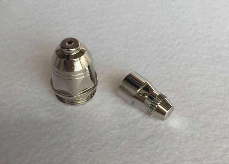 plasma cutting nozzle and electrodes